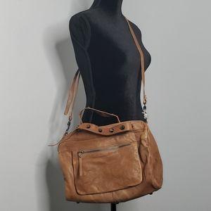 """J.crew """"Laramie"""" leather satchel w/crossbody"""